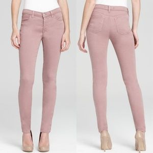 J Brand for Theory Super Skinny Posy Pink Jeans